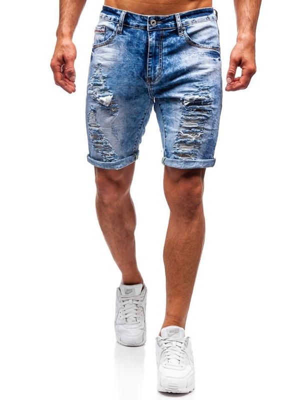 Мужские джинсовые шорты синие Bolf T567