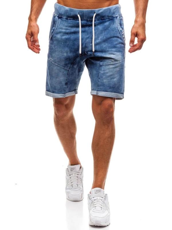 Мужские джинсовые шорты темно-синие Bolf EX01