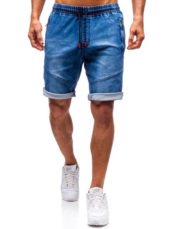 Мужские джинсовые шорты темно-синие Bolf HY186