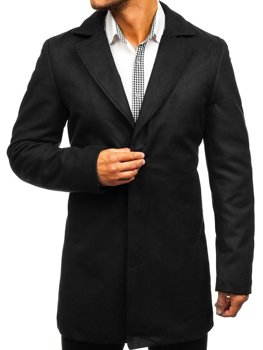 Мужское зимнее пальто черное Bolf 5438