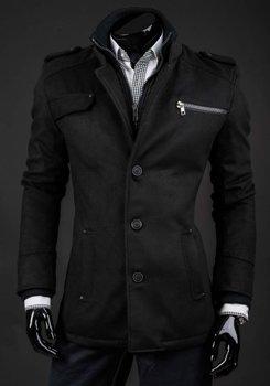 Мужское зимнее пальто черное Bolf 8856A