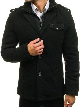 Мужское пальто черное Bolf 8853A