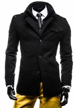 Мужское пальто черное Bolf 8853E