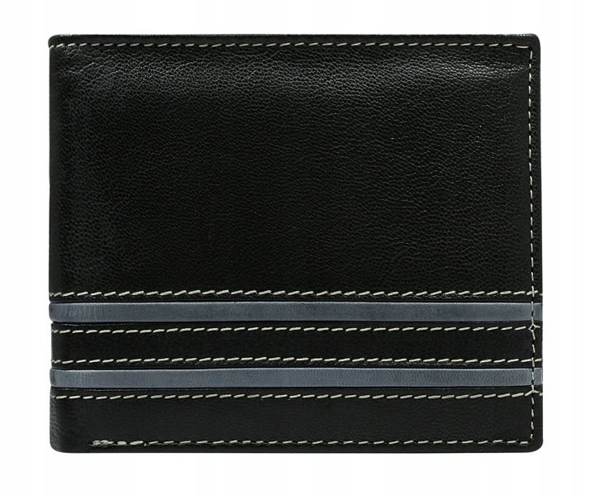 Мужской кожаный кошелек серый 581