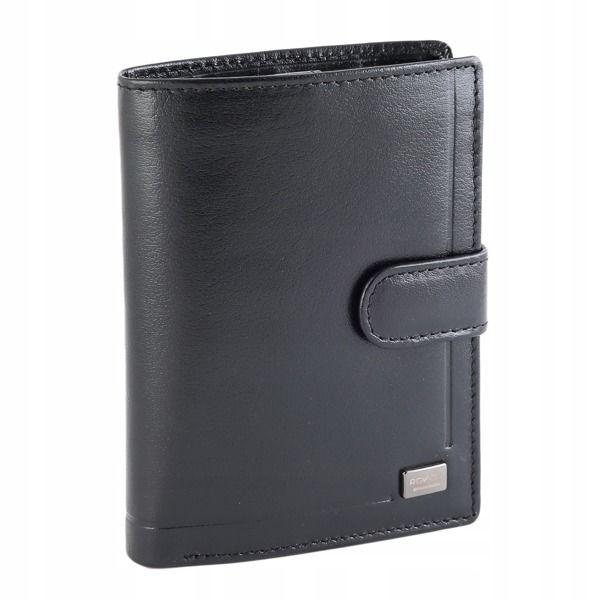 Мужской кожаный кошелек черный 194