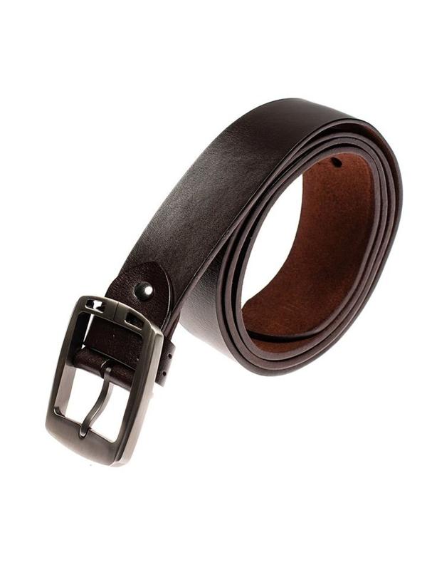 Мужской кожаный ремень коричневый Bolf P006-A