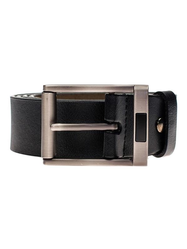 Мужской кожаный ремень черный Bolf P008
