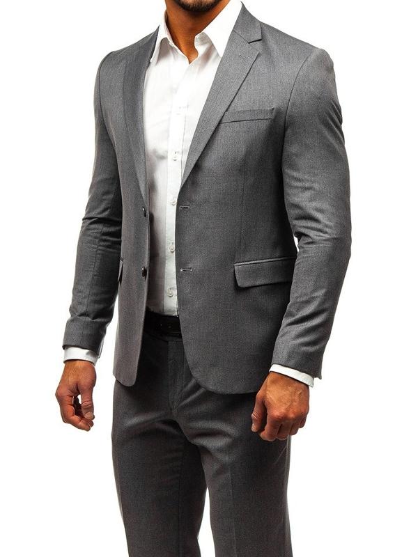 Мужской костюм серый Bolf 172000-1