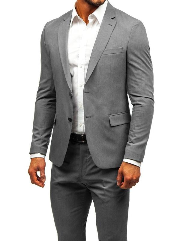 Мужской костюм серый Bolf 19200