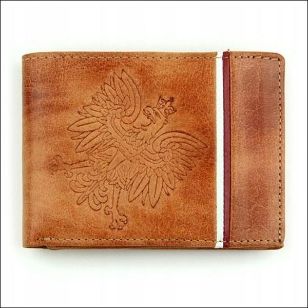 Мужской кошелек кожаный светло-коричневый 682