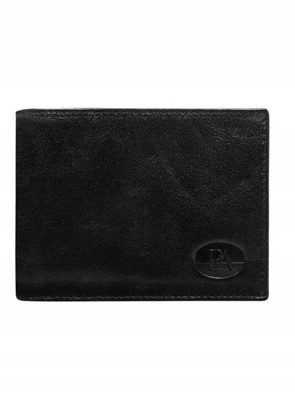 Мужской кошелек кожаный черный 146