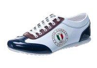 Обувь мужская LUCIO GABBANI 610-2 бело-бордовые