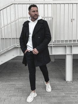 Пальто мужское зимнее черное Bolf 1048B