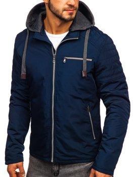 Темно-синяя мужская демисезонная куртка Bolf 1709