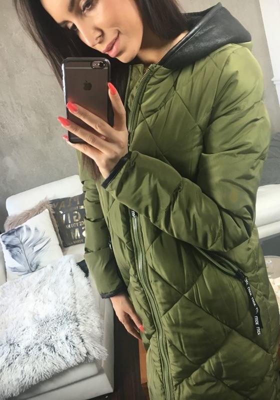 Хаки женская зимняя куртка Bolf 8049