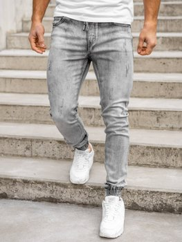 Черные мужские джинсовые джоггеры Bolf KA1828