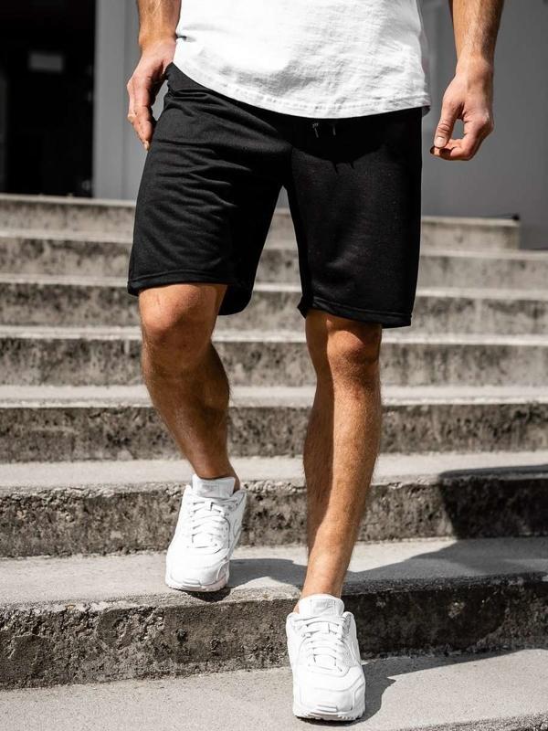 Черные мужские спортивные шорты Bolf DK07