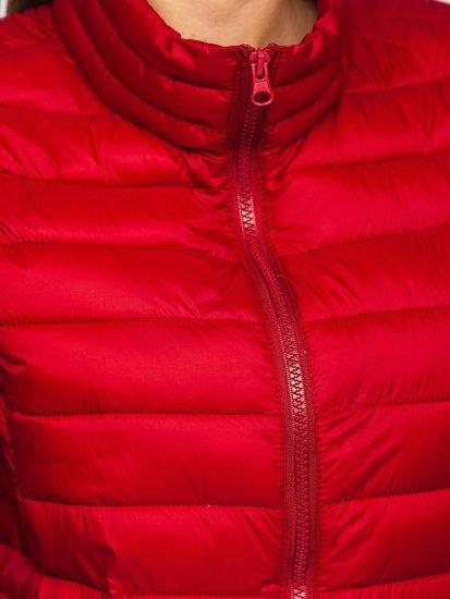 Бордовый стеганый женский жилет Bolf 23038