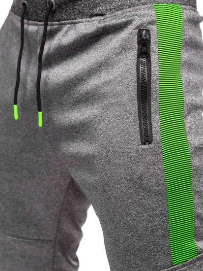 Графитные мужские спортивные брюки карго Bolf K10283