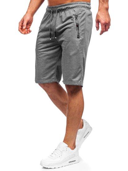 Графитовые мужские спортивные шорты Bolf JX505