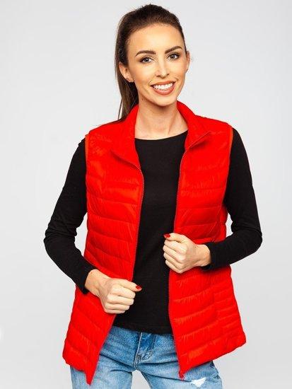 Красный стеганый женский жилет Bolf 23038