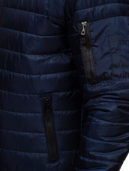 Куртка мужская демисезонная спортивная темно-синяя Bolf MY22