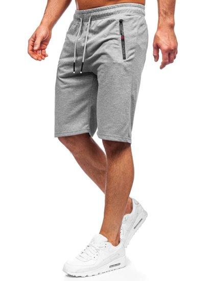 Мужские серые спортивные шорты Bolf JX505