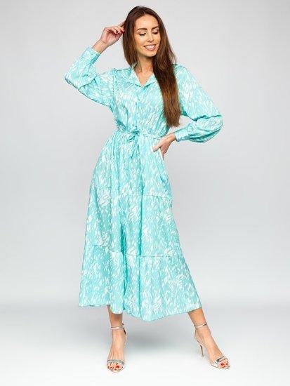 Мятное платье женское Bolf A468
