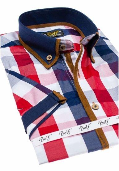 Рубашка мужская BOLF 5507-1 красная