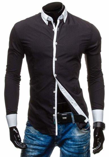 Рубашка мужская BOLF 5798 черная
