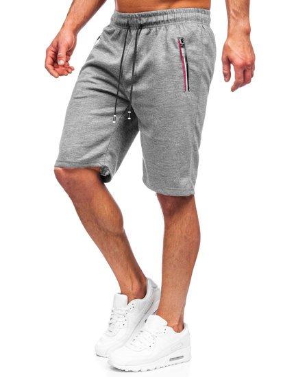 Серые мужские спортивные шорты Bolf JX131
