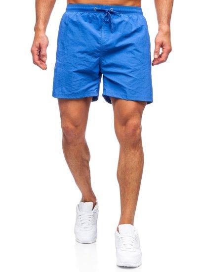 Синие мужские пляжные шорты Bolf YW07003
