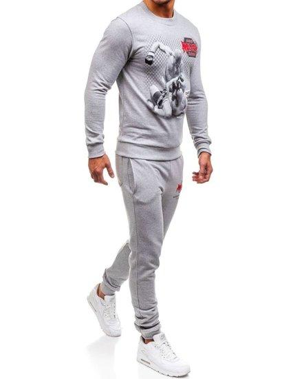 Спортивный костюм мужской OXCID X219 серый