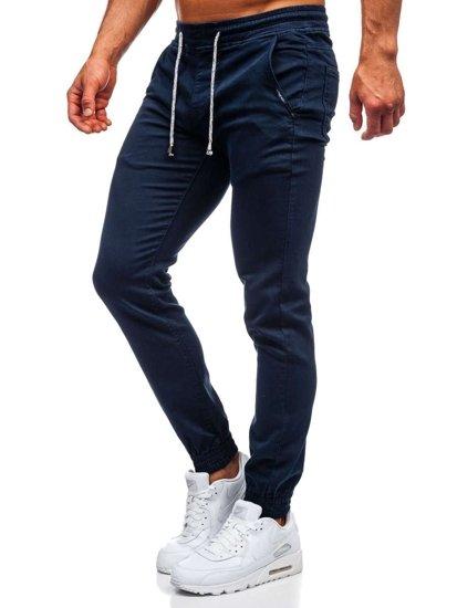 Темно-синие мужские брюки джоггеры Bolf CT8808