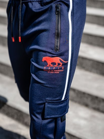 Темно-синие мужские спортивные брюки карго Bolf K10281