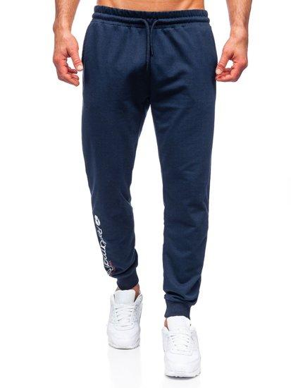 Темно-синие мужские спортивные брюки Bolf 8623