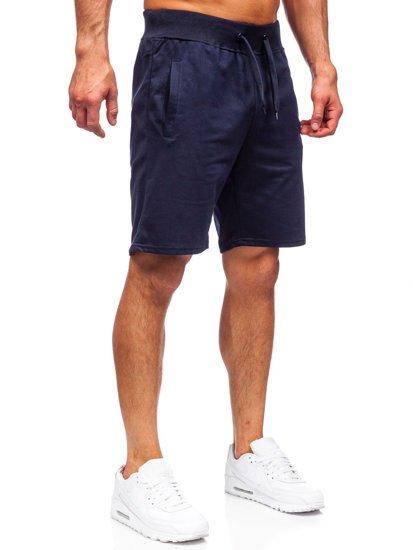 Темно-синие мужские спортивные шорты Bolf K10003