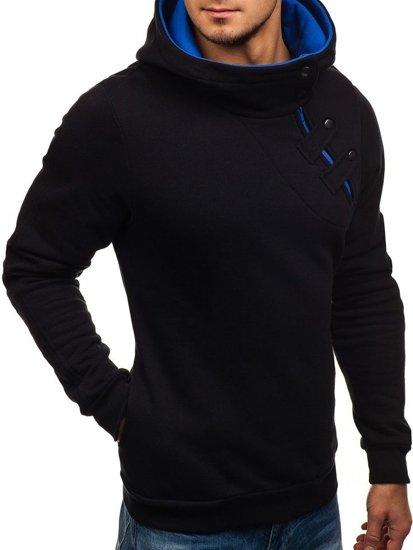 Толстовка мужская BOLF 06S черно-кобальтовая
