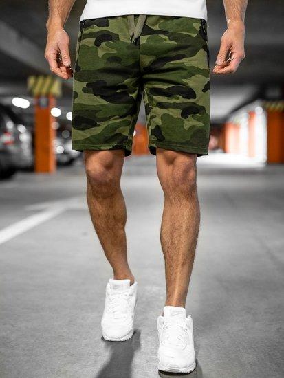 Хаки спортивные мужские камуфляжные шорты Bolf K10037