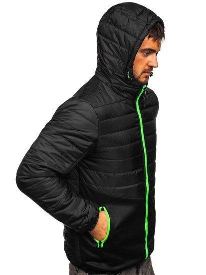 Черная спортивная мужская демисезонная куртка Bolf M10001
