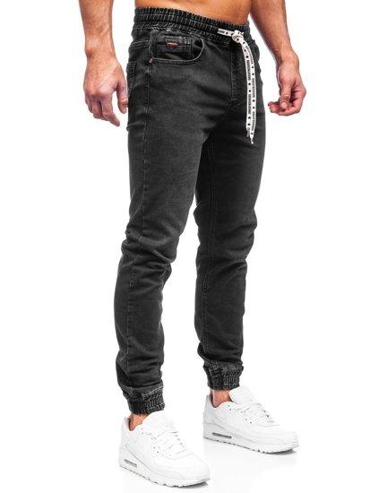 Черные мужские джинсы джоггеры Bolf KA2131