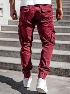 Бордовые мужские брюки джоггеры карго Bolf CT6707S0