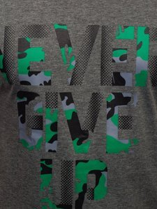 Графитовая мужская футболка с принтом Bolf KS2650