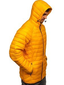 Желтая стеганая мужская куртка Bolf 13021