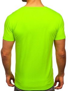 Зеленая неоновая мужская футболка с принтом Bolf Y70011