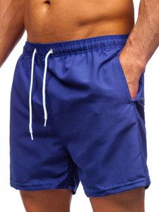 Кобальтовые мужские пляжные шорты Bolf YW02001