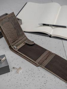 Кошелек мужской кожаный коричневый 3184