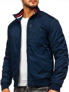 Куртка мужская демисезонная темно-синяя Bolf 1907-1