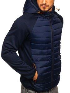 Мужская демисезонная спортивная куртка темно-синяя KS1882