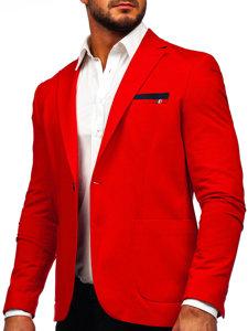 Мужской пиджак casual красный Bolf 1652